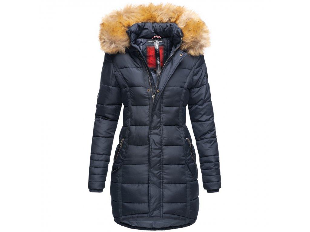 Dámska zimná bunda dlhá Papaya Navaho - BLUE