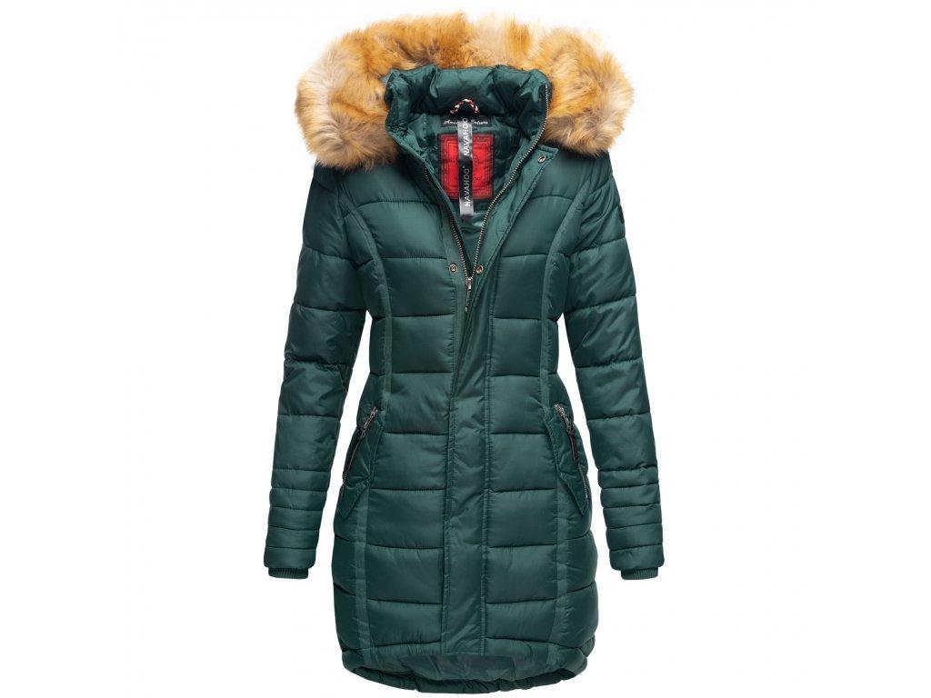 Dámska zimná bunda dlhá Papaya Navaho - FOREST GREEN