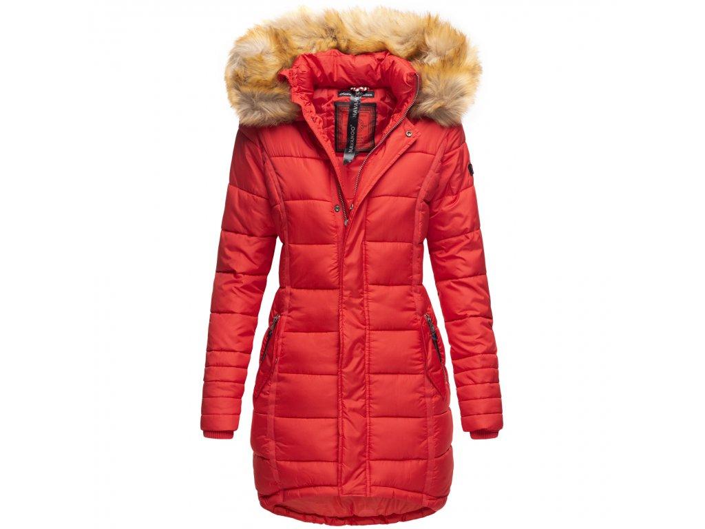 Dámska zimná bunda dlhá Papaya Navaho - RED