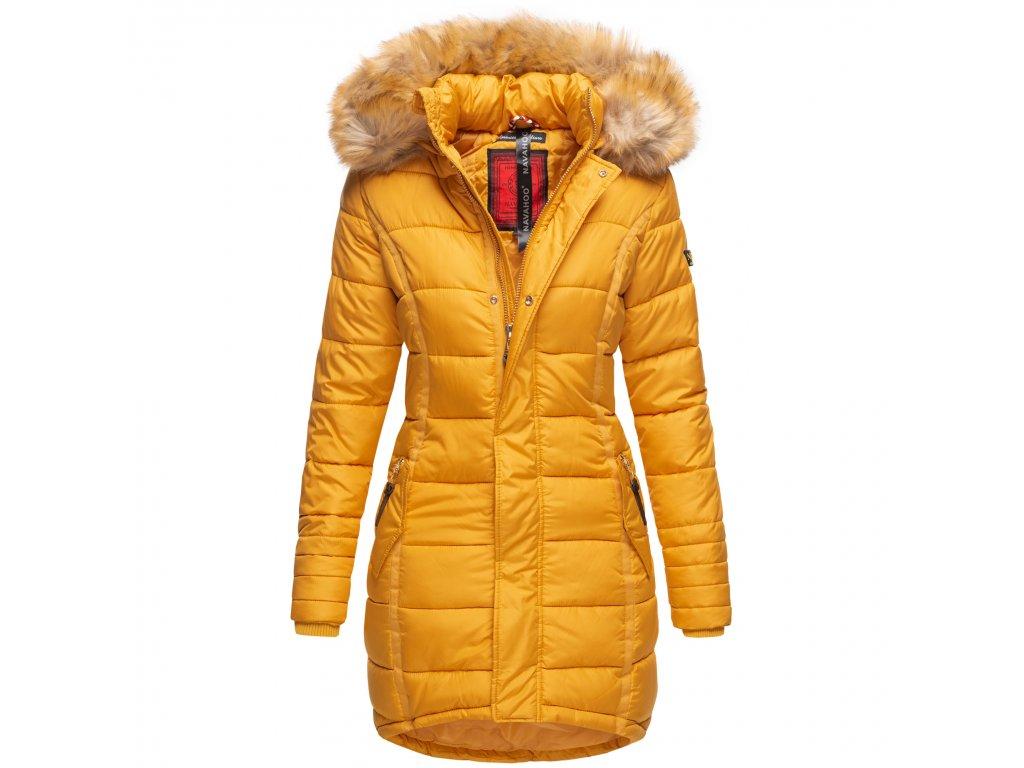 Dámska zimná bunda dlhá Papaya Navaho - YELLOW