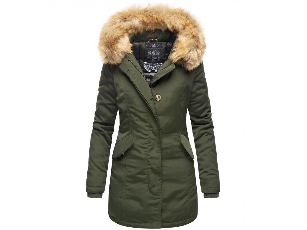 Dámska zimná bunda Karmaa Marikoo - OLIVE