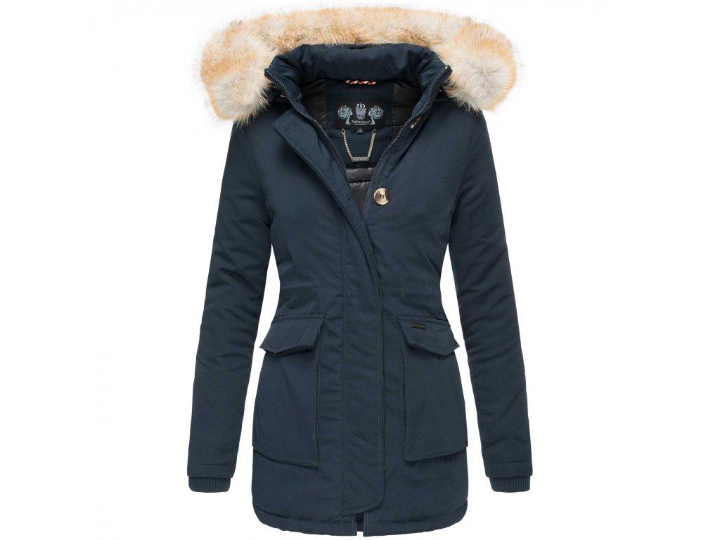 Dámska zimná bunda s kapucňou Schneeengel Navahoo 2019 - BLUE
