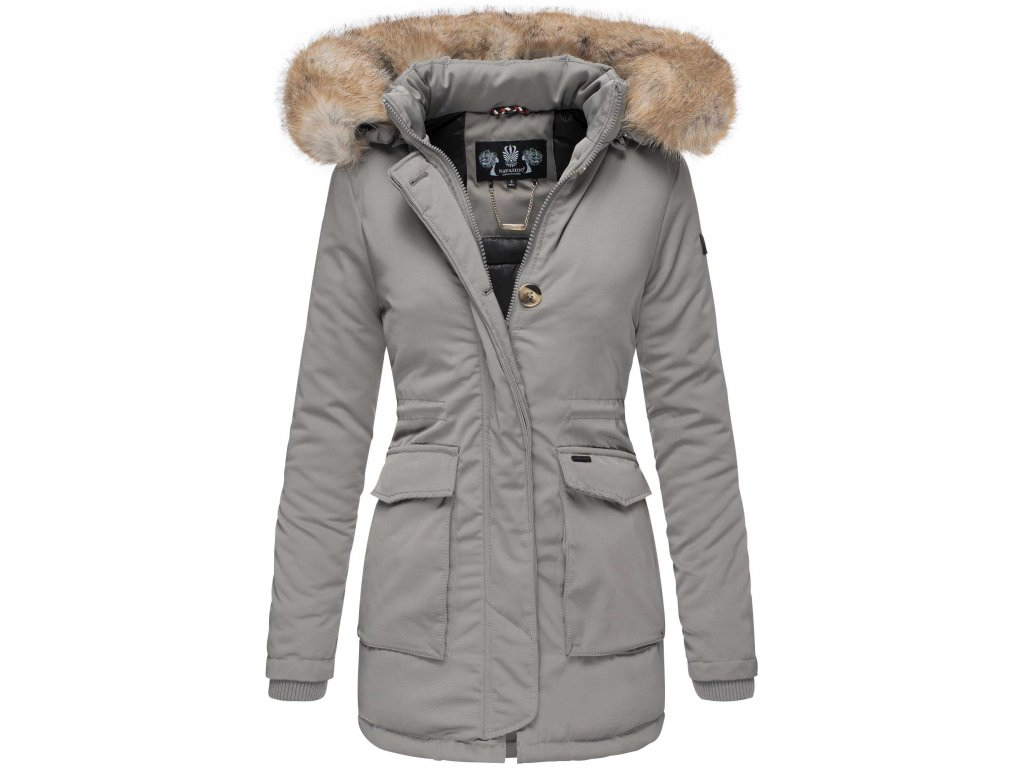 Dámska zimná bunda s kapucňou Schneeengel Navahoo 2019 - GREY