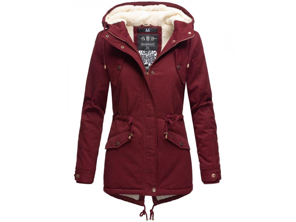 Zimná bunda s kapucňou a kožušinkou Manolya Marikoo - BORDEAUX