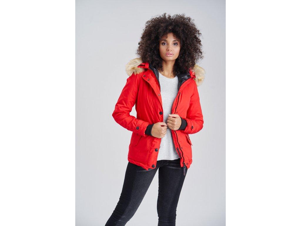Dámska zimná bunda s kapucňou Laura Navahoo - RED