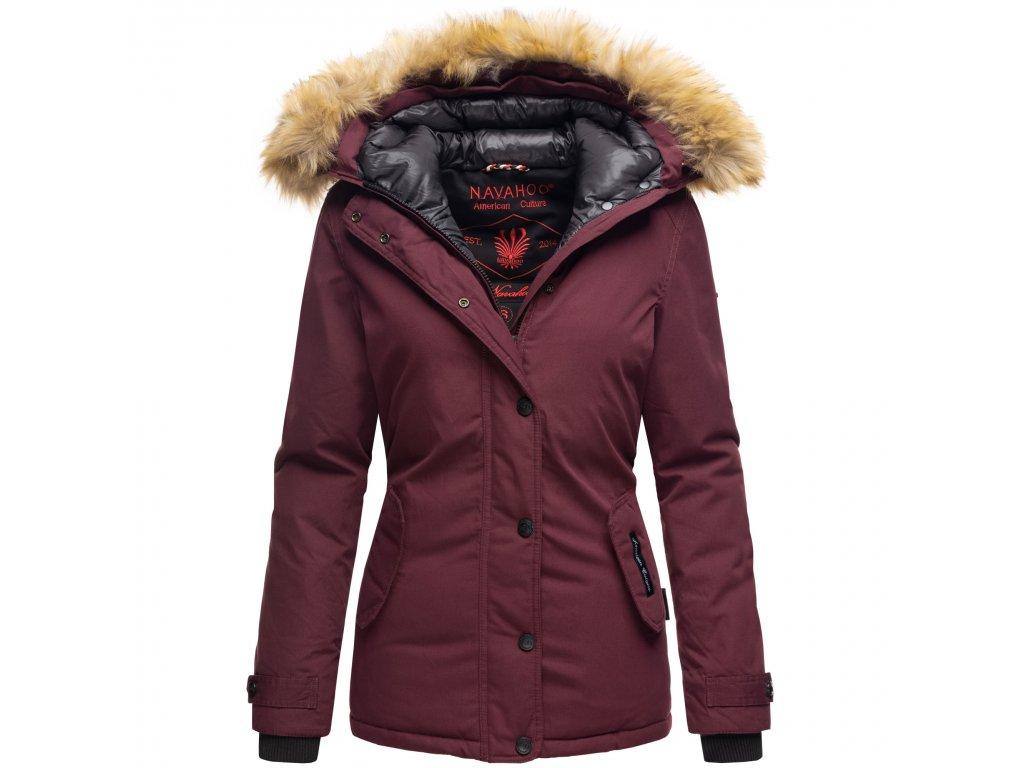 Dámska zimná bunda s kapucňou Laura Navahoo - WINE