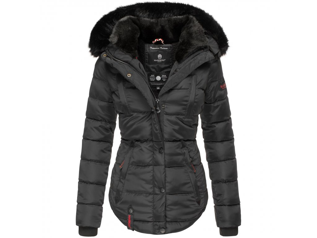 Dámska zimná bunda s kapucňou Lotusblute Marikoo - BLACK