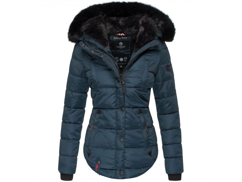Dámska zimná bunda s kapucňou Lotusblute Marikoo - BLUE
