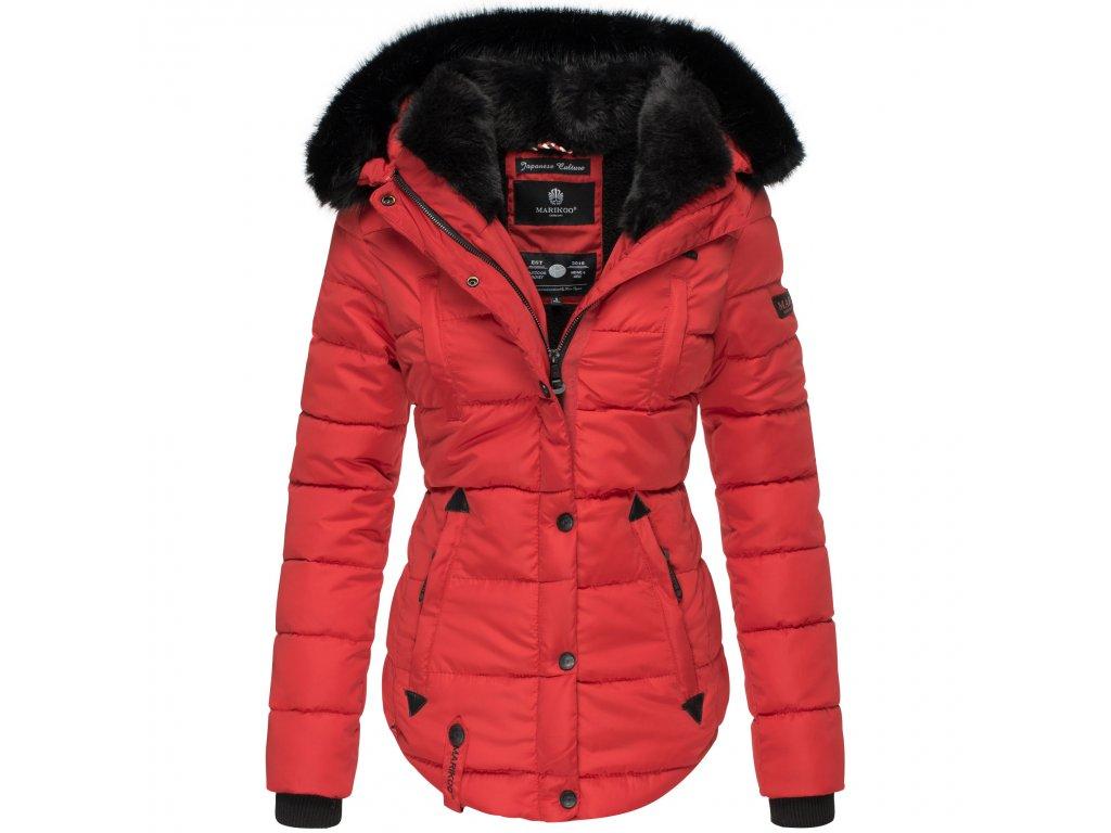 Dámska zimná bunda s kapucňou Lotusblute Marikoo - RED