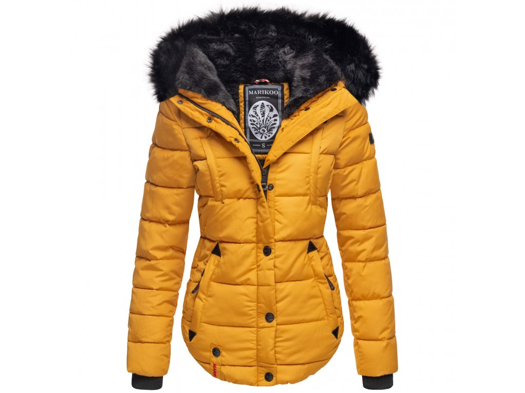 Dámska zimná bunda s kapucňou Lotusblute Marikoo - YELLOW