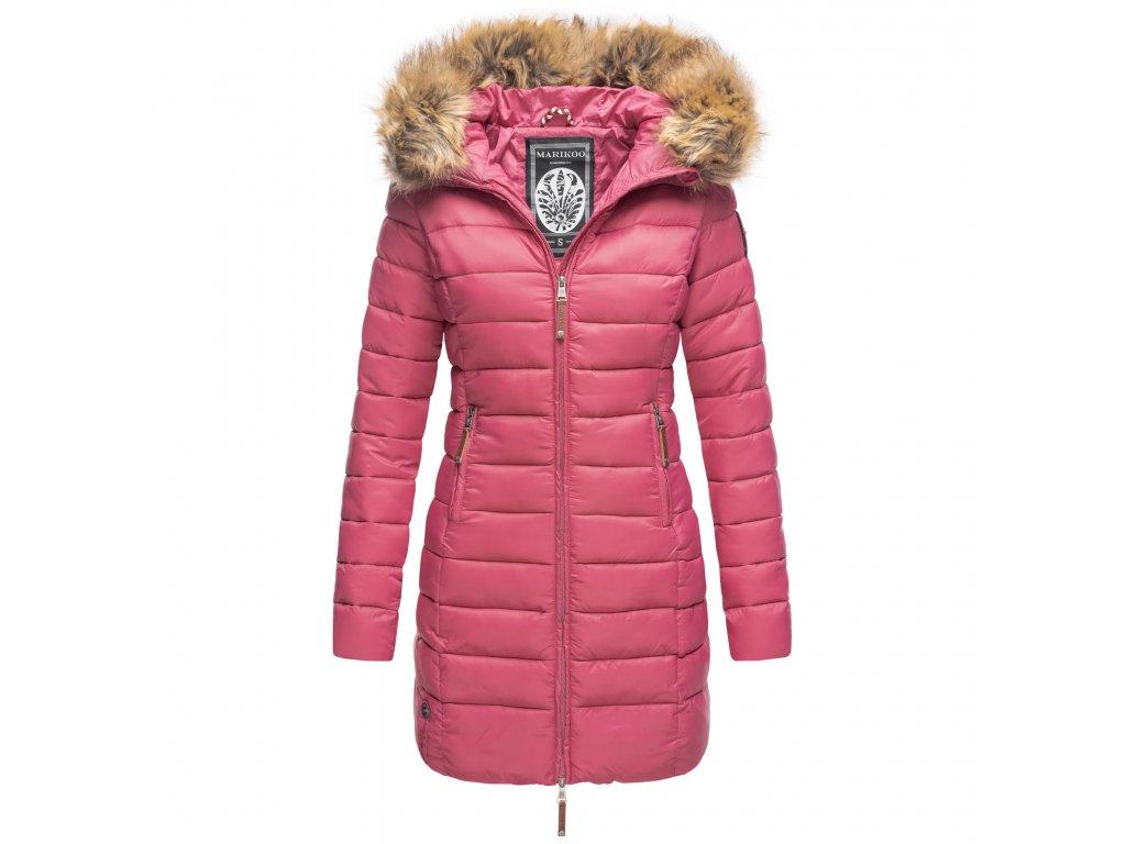 Dámska zimná bunda s kapucňou ROSE 110 Marikoo - BERRY
