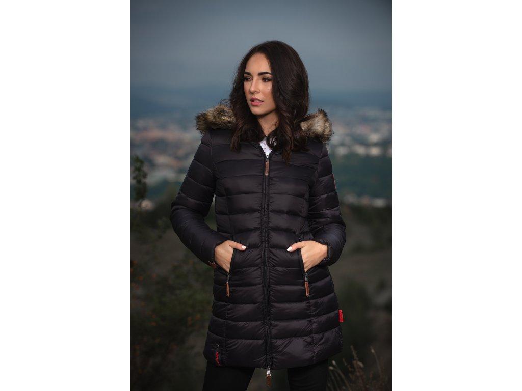 Dámska prechodová bunda s kapucňou ROSE 110 Marikoo - BLACK