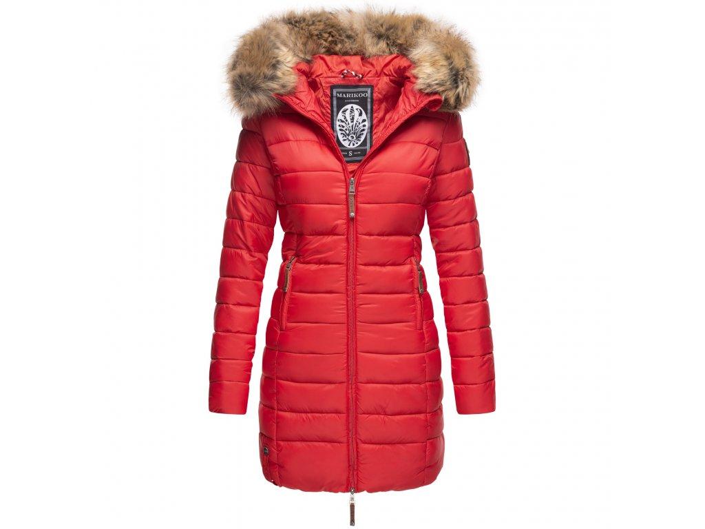 Dámska zimná bunda s kapucňou ROSE 110 Marikoo - RED