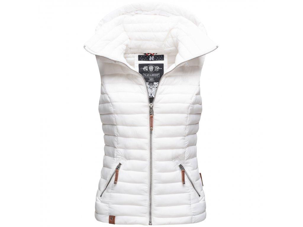 Dámska vesta s kapucňou Shadaa Navahoo - WHITE