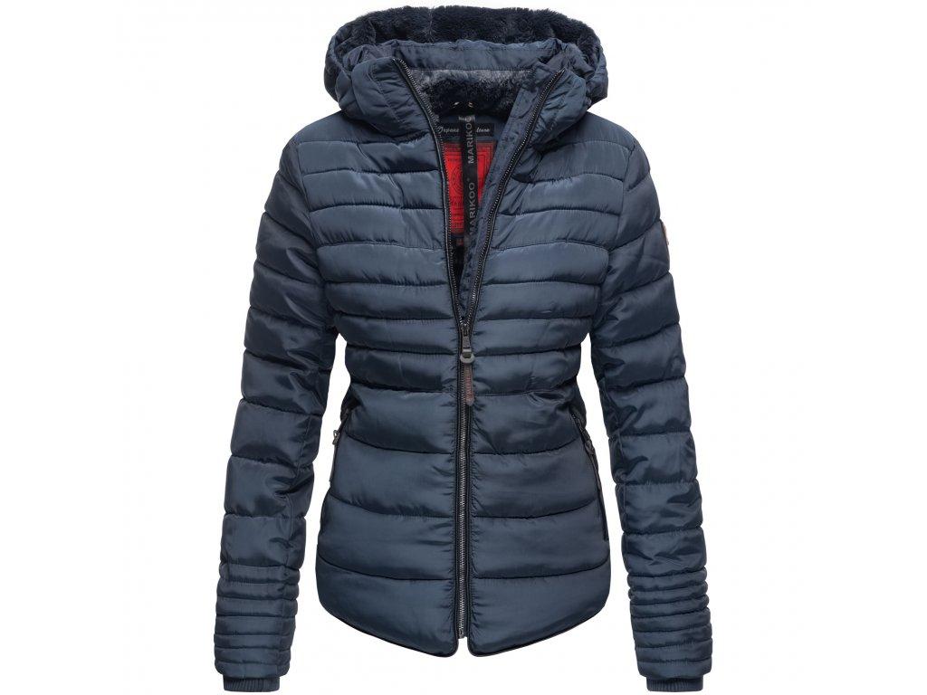 Dámska zimná bunda s kožušinkou Amber Marikoo 2019 - BLUE