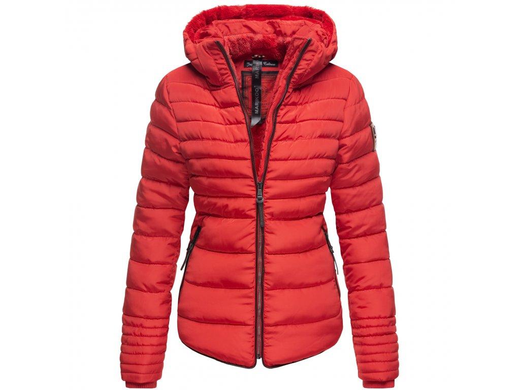 Dámska zimná bunda s kožušinkou Amber Marikoo - RED