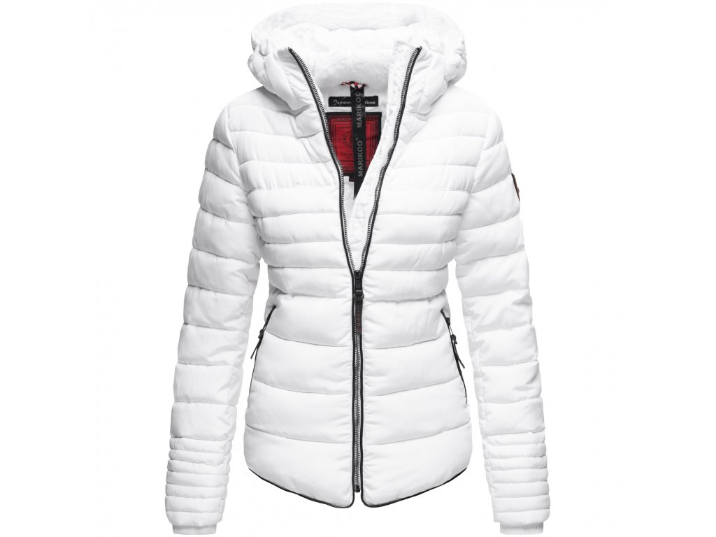 Dámska zimná bunda s kožušinkou Amber Marikoo - WHITE