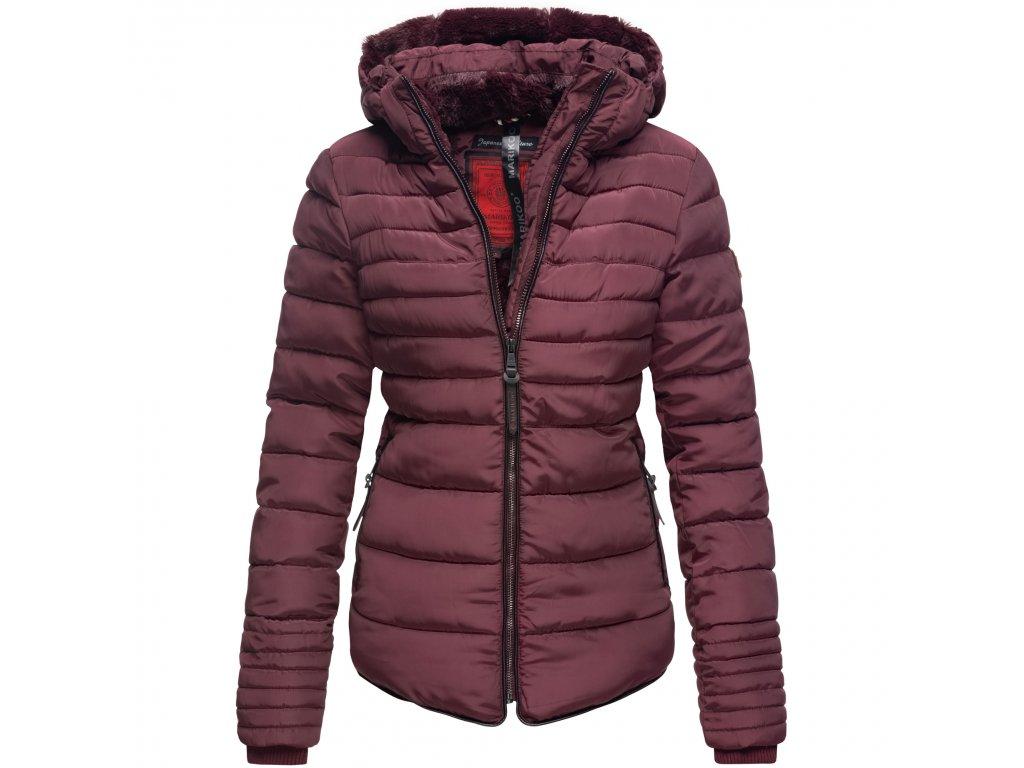Dámska zimná bunda s kožušinkou Amber Marikoo - WINE