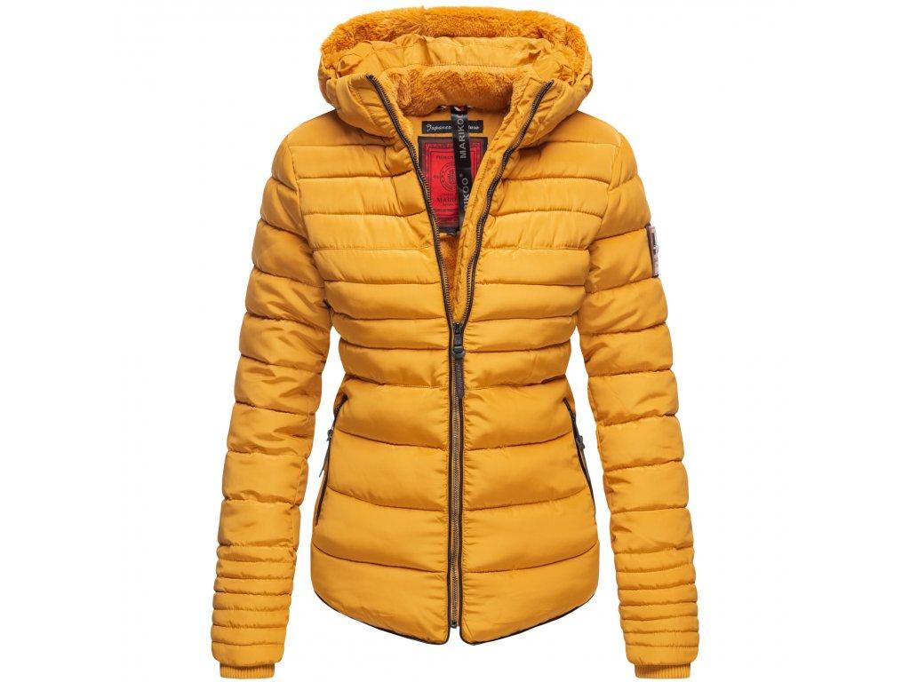 Dámska zimná bunda s kožušinkou Amber Marikoo - YELLOW