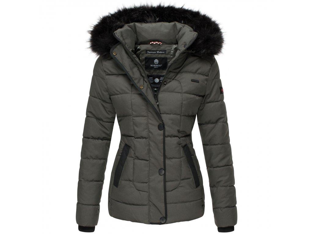 Dámska zimná bunda s kapucňou Unique Marikoo - Antracite