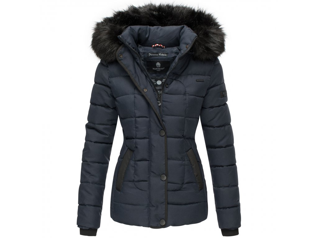 Dámska zimná bunda s kapucňou Unique Marikoo - BLUE