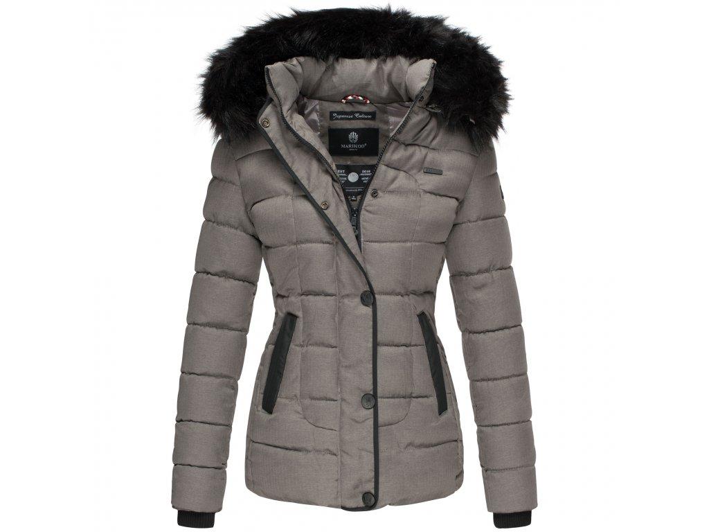 Dámska zimná bunda s kapucňou Unique Marikoo - GREY