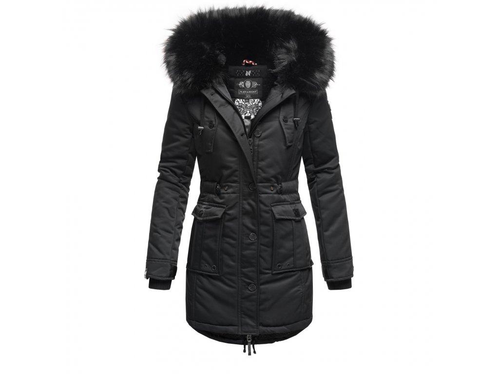 Dámska zimná dlhá bunda / kabát Luluna Princess Navahoo - BLACK