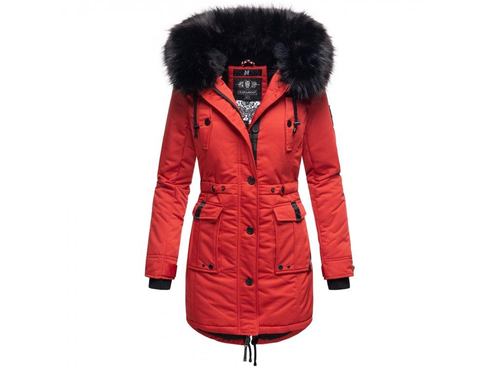 Dámska zimná dlhá bunda / kabát Luluna Princess Navahoo - RED