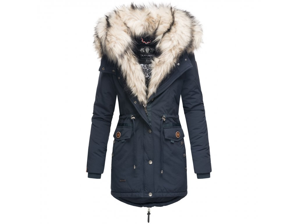 Dámska zimná bunda s kožušinkou Sweety Navahoo - BLUE