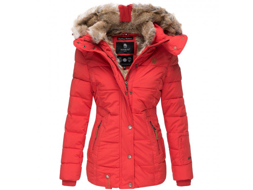 Dámska zimná bunda s kapucňou Nekoo Marikoo - RED