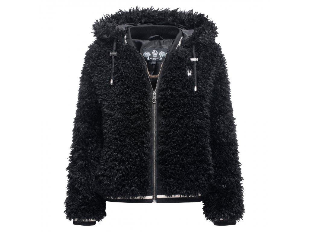 Dámska zimná chlpatá bunda Puderzuckerwolkchen Marikoo - BLACK