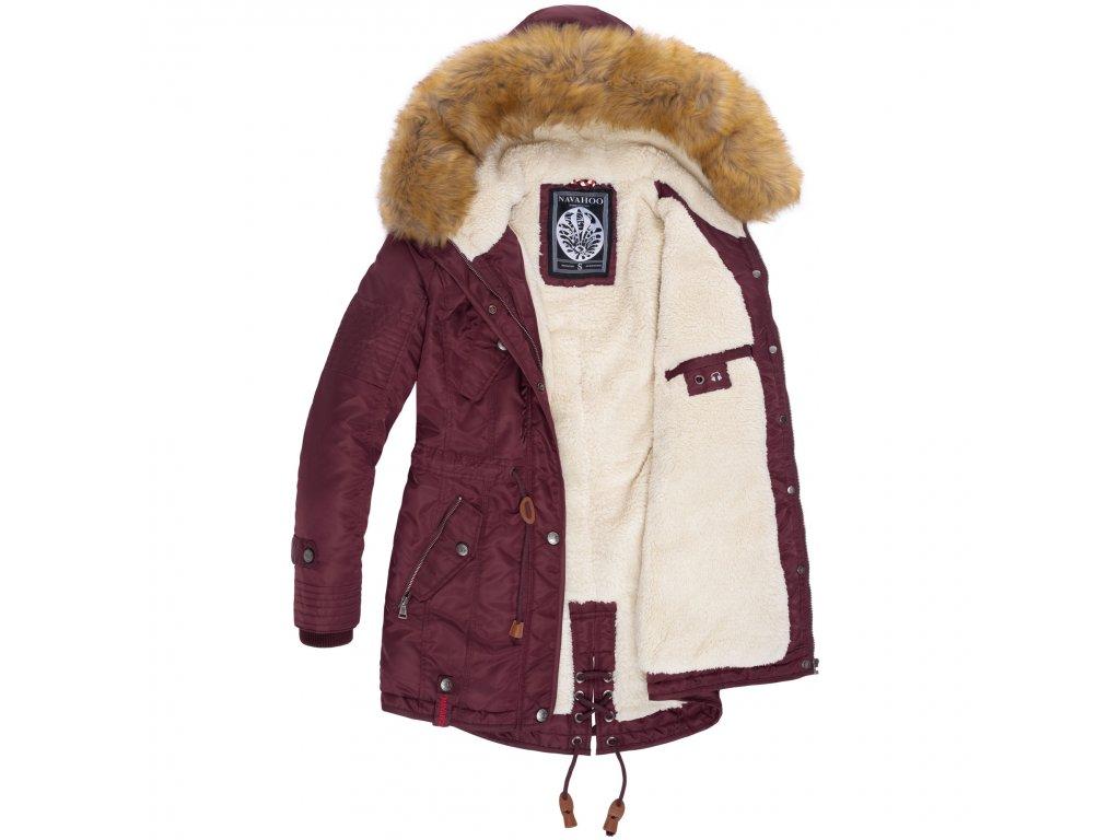 Dámska zimná bunda s kapucňou La Viva Navahoo - WINE