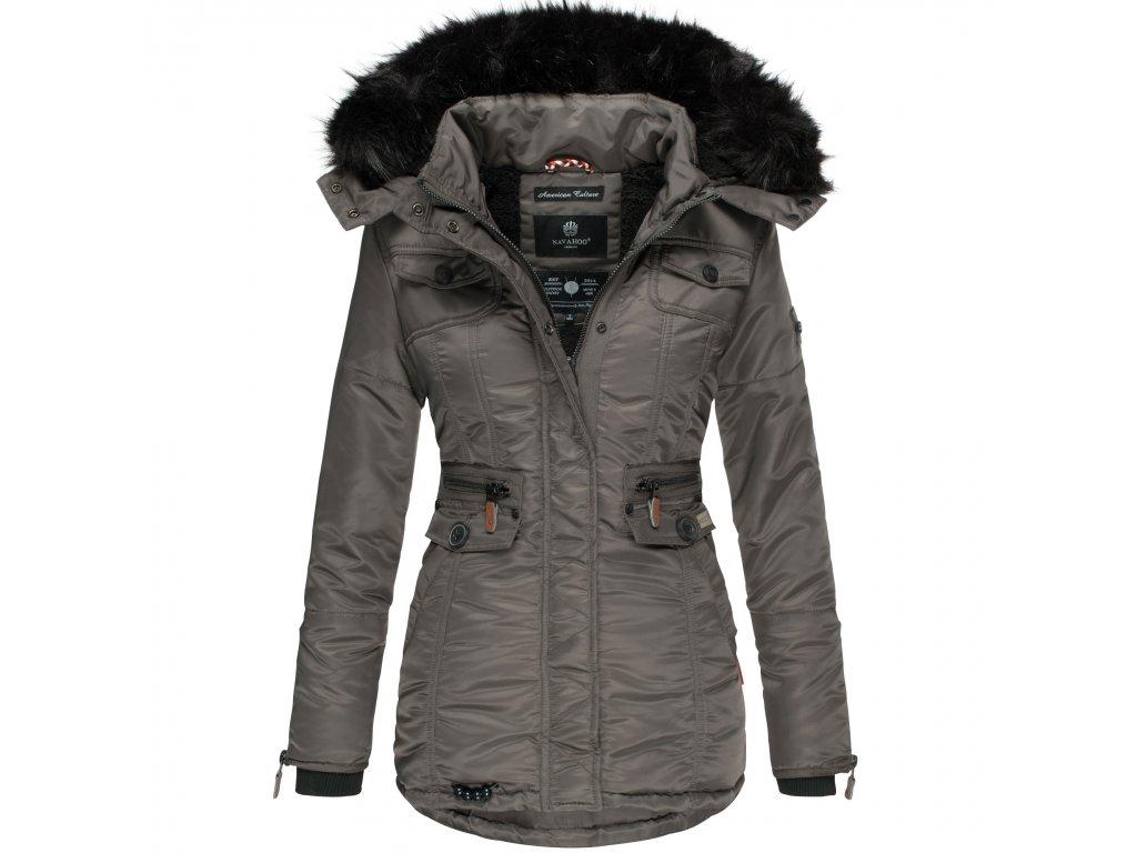 Dámska zimná bunda s kapucňou Schatzchen Navahoo - Antracite