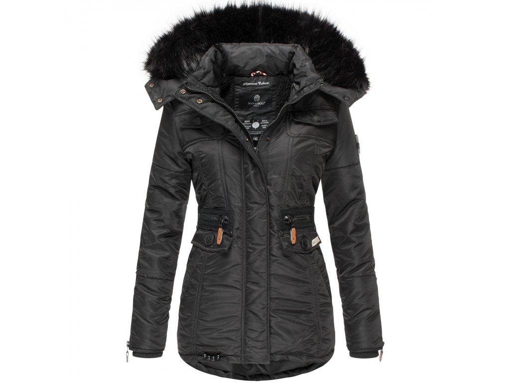 Dámska zimná bunda s kapucňou Schatzchen Navahoo - BLACK