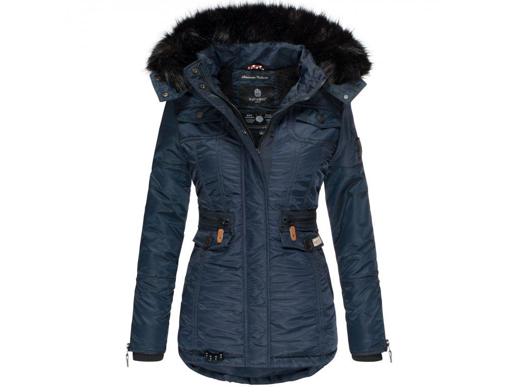 Dámska zimná bunda s kapucňou Schatzchen Navahoo - BLUE