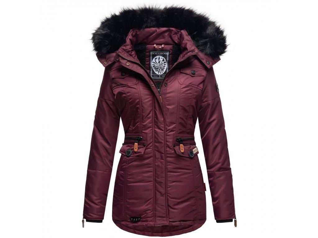 Dámska zimná bunda s kapucňou Schatzchen Navahoo - WINE