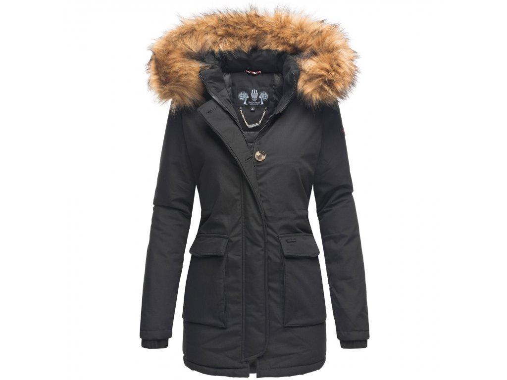 Dámska zimná bunda s kapucňou Schneeengel Princess Navahoo - BLACK