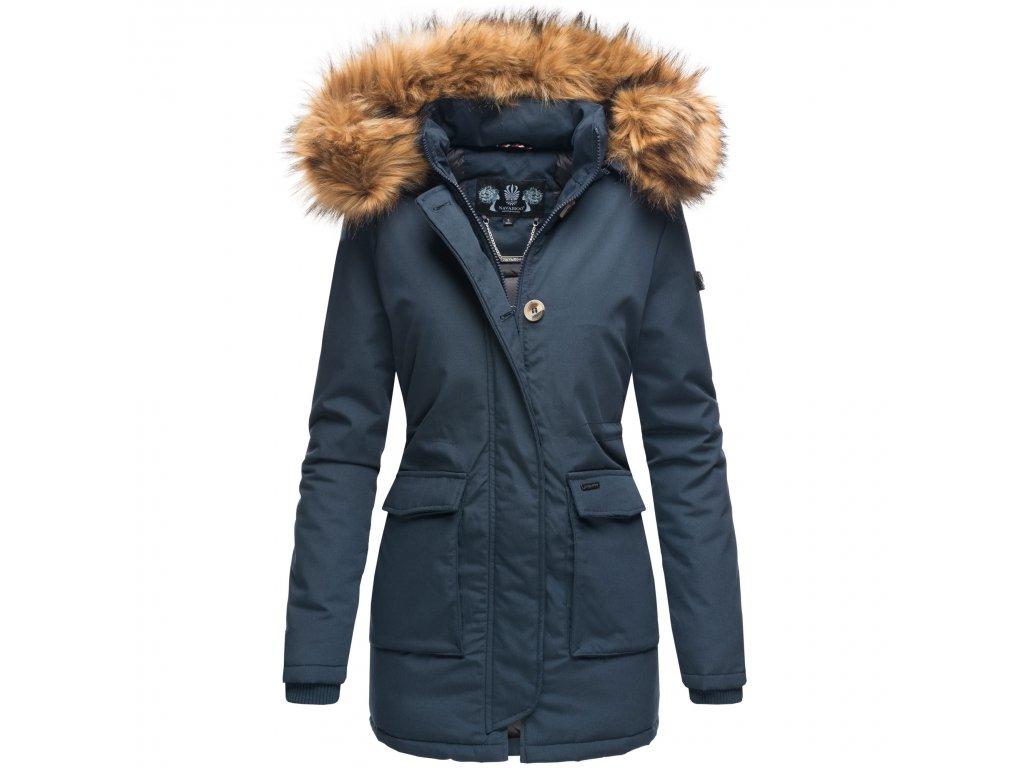 Dámska zimná bunda s kapucňou Schneeengel Princess Navahoo - BLUE