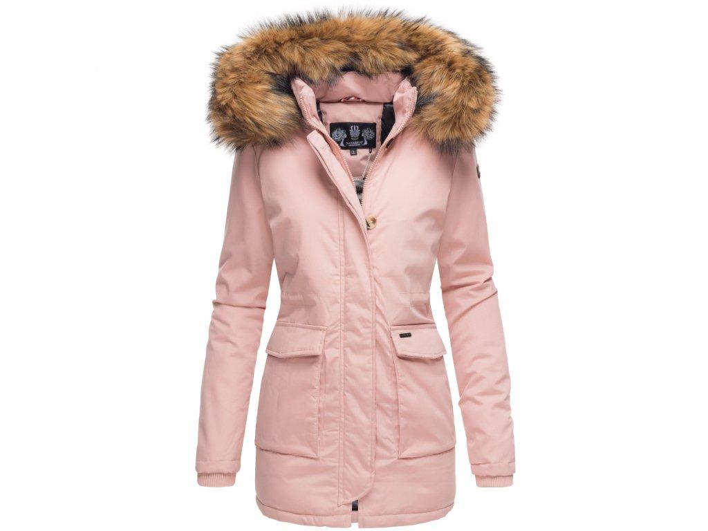 Dámska zimná bunda s kapucňou Schneeengel Princess Navahoo - ROSE