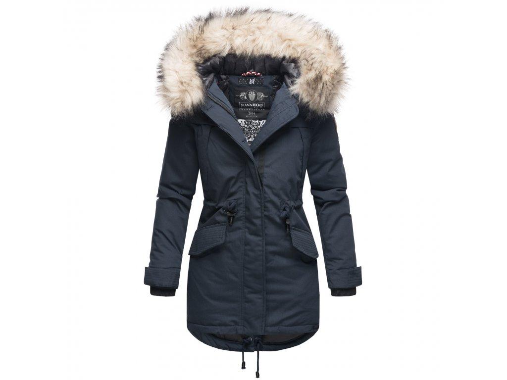Dámska zimná dlhá bunda LadyLike Navahoo - NAVY