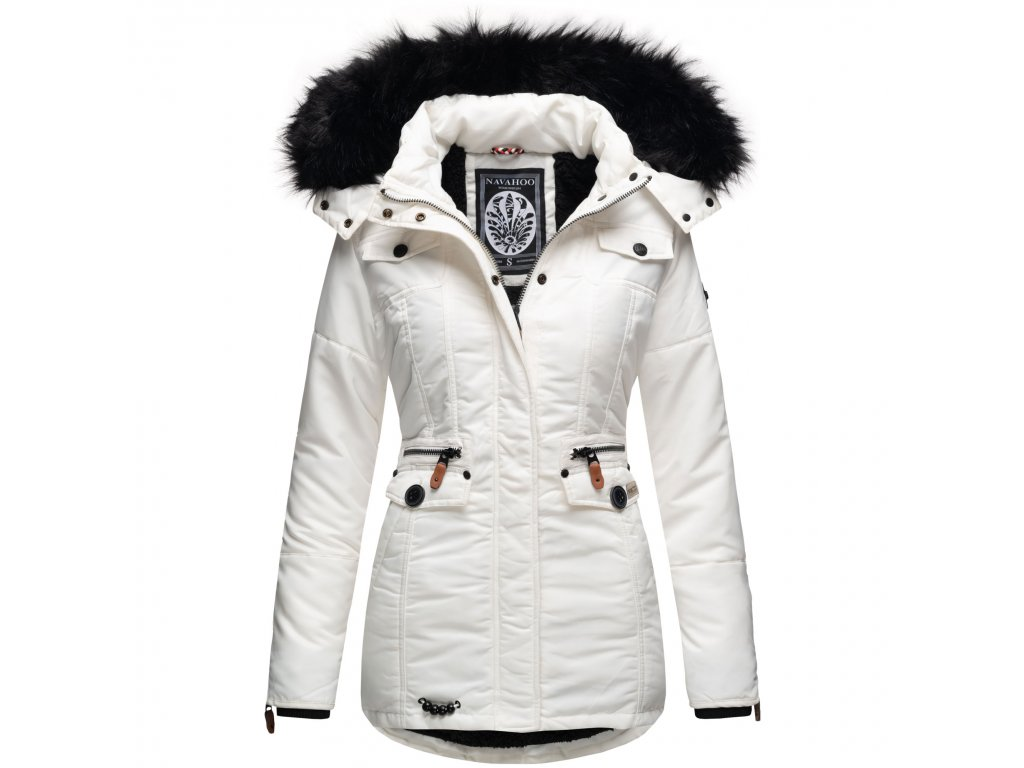 Dámska zimná bunda s kapucňou Schatzchen Navahoo - WHITE