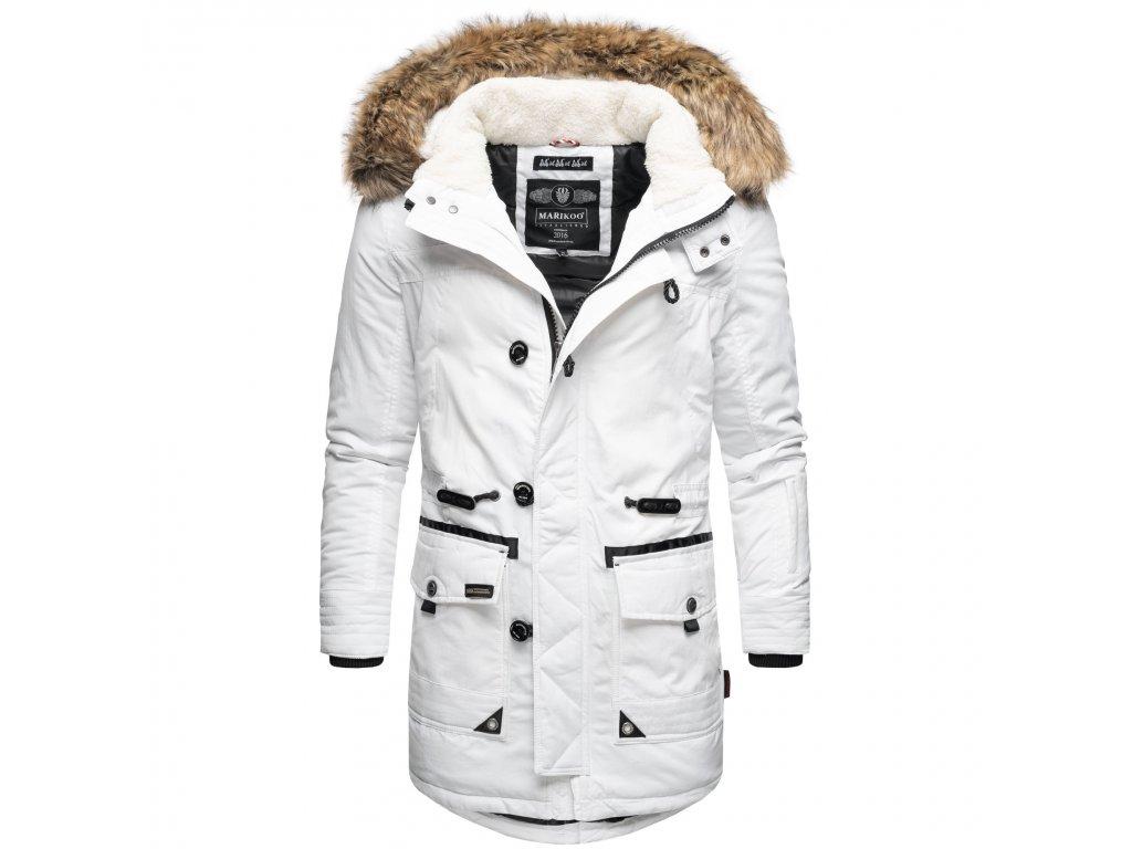 Pánsky kabát / dlhá bunda Ansaya Marikoo - WHITE
