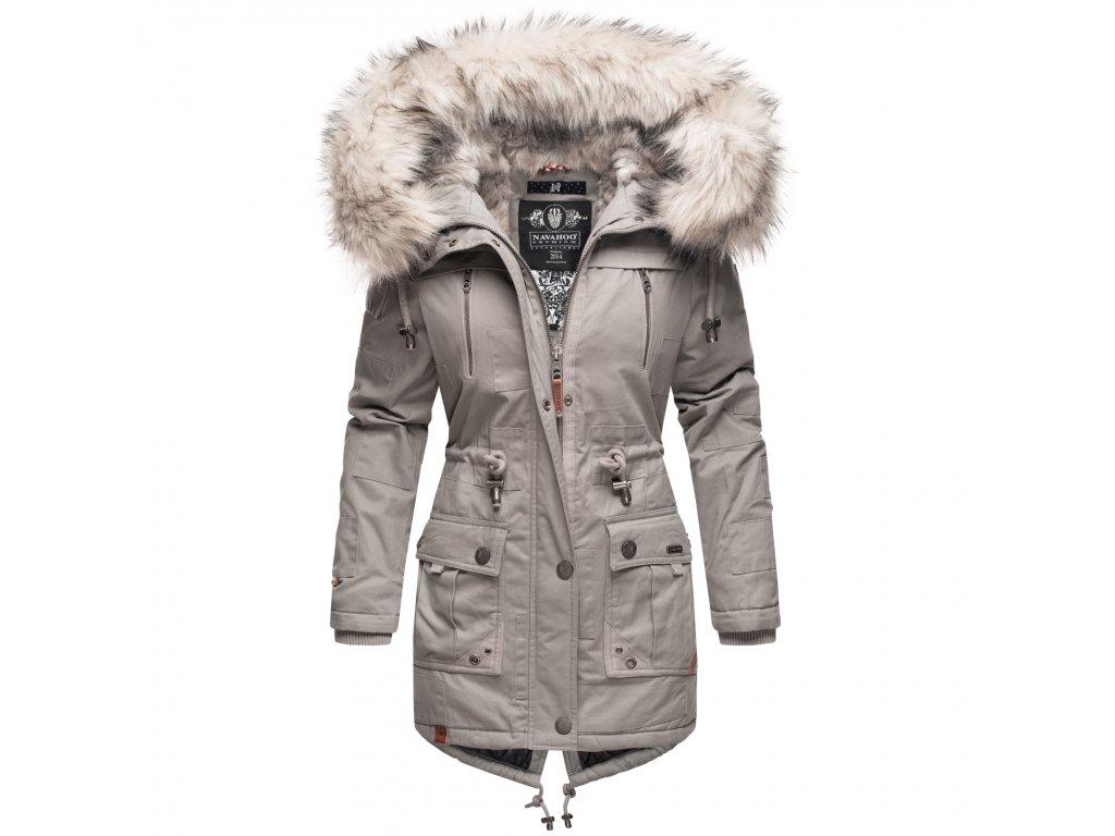 Dámska zimná bunda - kabát Honigfee Navahoo - LIGHT GREY