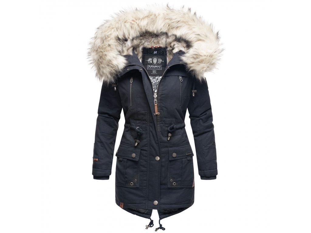 Dámska zimná bunda - kabát Honigfee Navahoo - NAVY