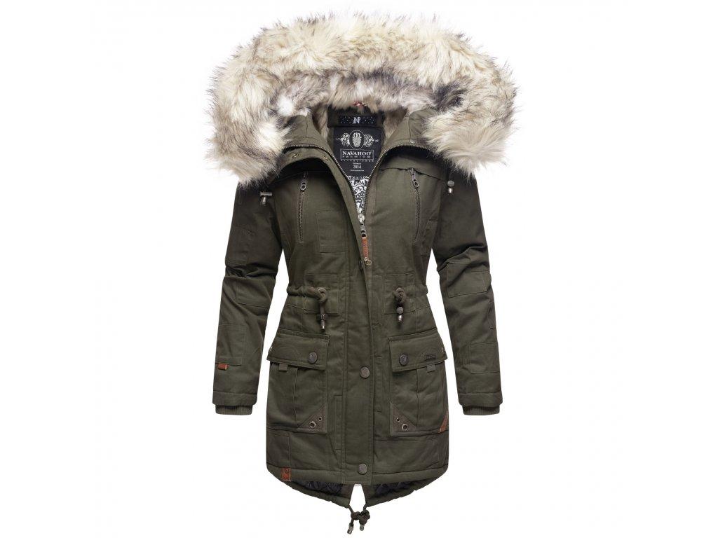 Dámska zimná bunda - kabát Honigfee Navahoo - OLIVE