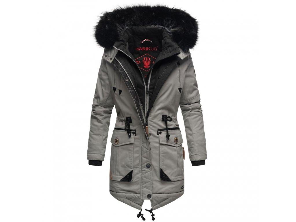 Dámska zimná bunda / kabát Knutschkugel Marikoo - GREY