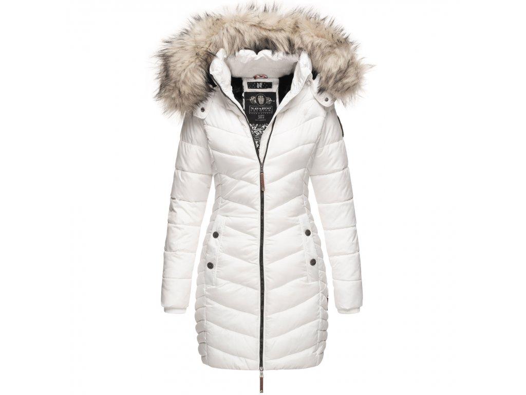 Dámska zimná bunda - kabát Nimalaa Navahoo - WHITE