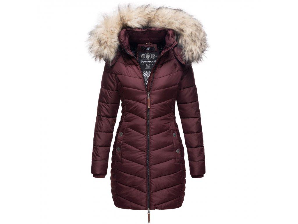 Dámska zimná bunda - kabát Nimalaa Navahoo - WINE