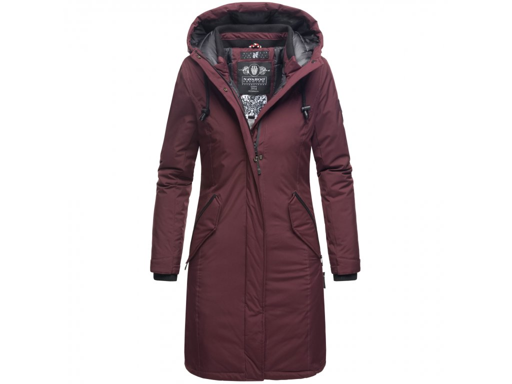 Dámsky zimný kabát Letiziaa Navahoo - WINE