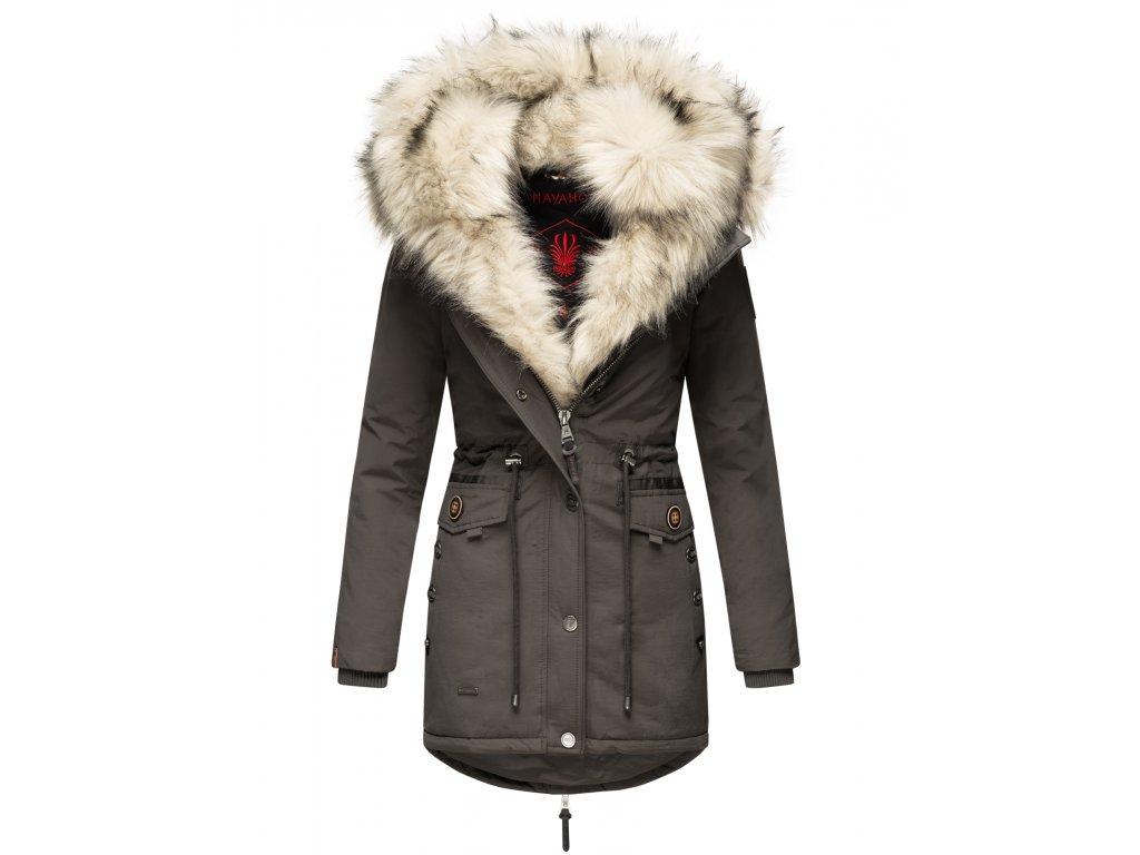 Dámska zimná bunda s kožušinkou Sweety Navahoo - ANTRACITE